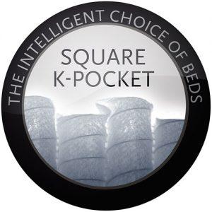 Square k-pocket Lectus sängar